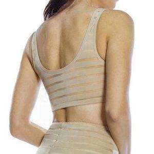 Rhonda Shear Intimates & Sleepwear - Rhonda Shear Mesh Detail Bra- Tan- New with tags!